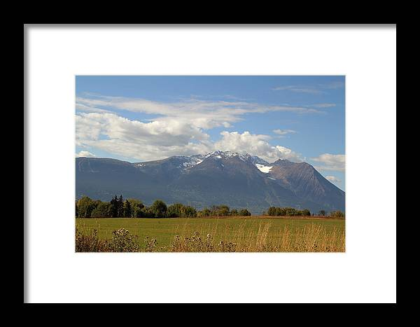 Mountains Framed Print featuring the photograph Mountain Field by Kim French
