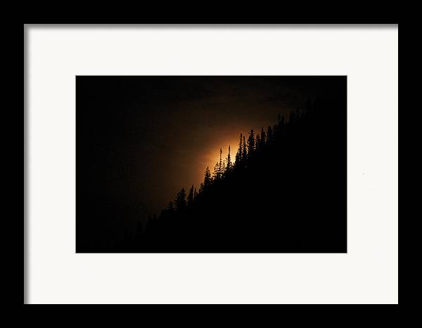 Landscape Framed Print featuring the photograph Mountain Glow by Lisa Spencer