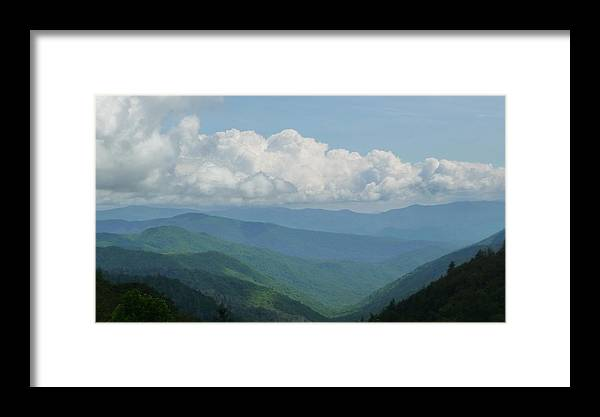 Clouds Framed Print featuring the photograph Mountain Magnificence by Michael Carrothers