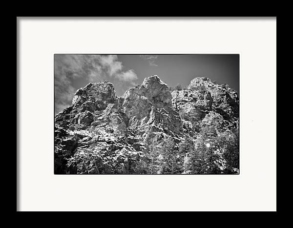 Mountain Framed Print featuring the photograph Mountain Peaks by Lisa Spencer