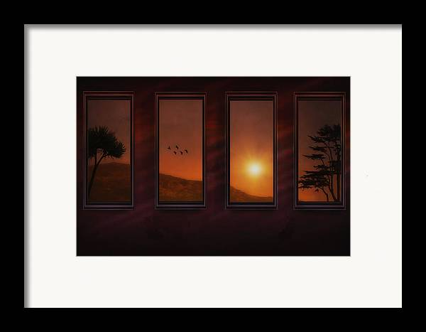Sunset Framed Print featuring the photograph Mountain Sunset by Tom York Images
