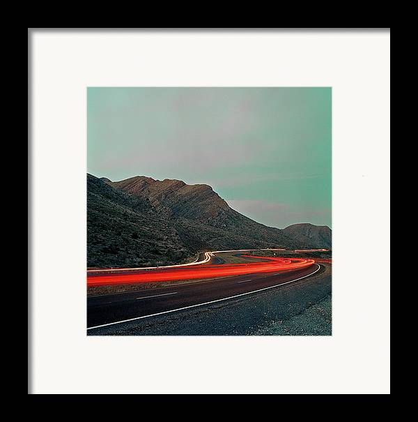 Vertical Framed Print featuring the photograph Mountain Zoom by Mark A Paulda
