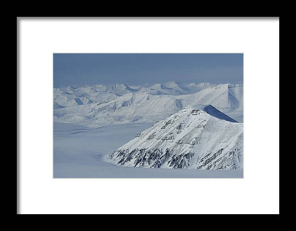 Spitsbergen Framed Print featuring the photograph Mountains And Glaciers Near Ny Alesund by Gordon Wiltsie