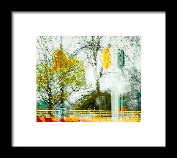 Street Framed Print featuring the photograph Movement On Denman Street by Emilio Lovisa
