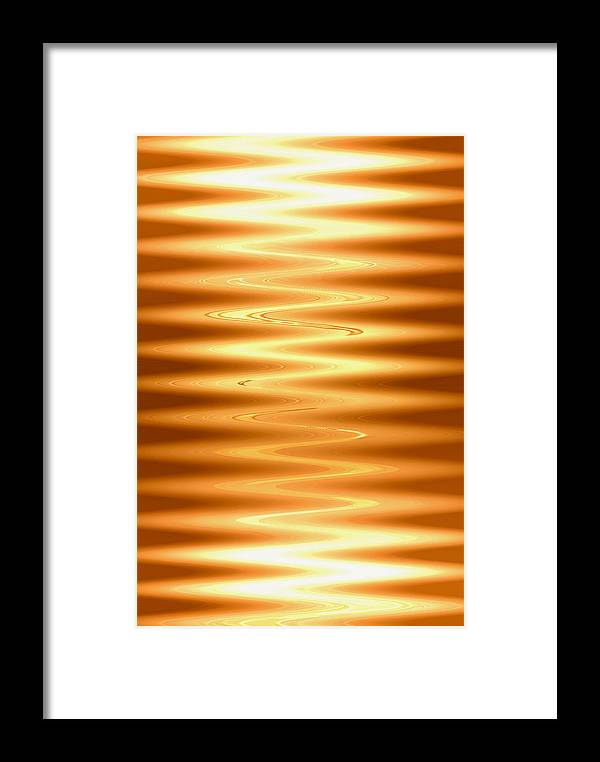 electriclightblessing Digital Abstract Art By Artist Jacob Kane Kanduch -- Omnetra Framed Print featuring the digital art Moveonart Electriclightblessing by Jacob Kanduch
