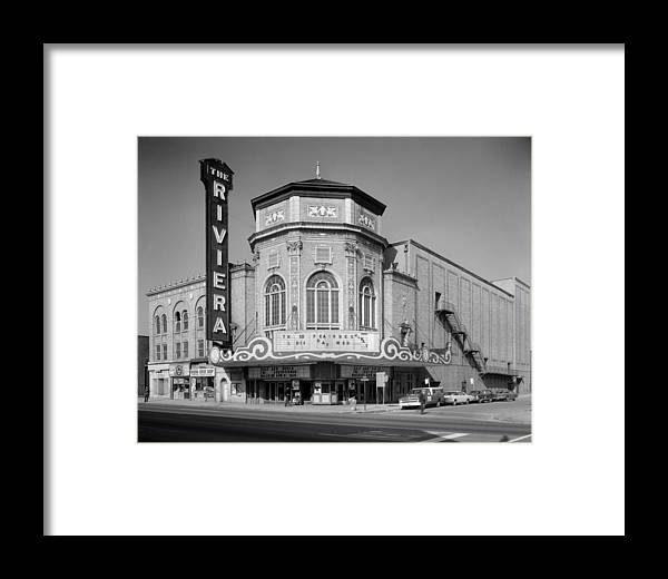 1970 Movies Framed Print featuring the photograph Movie Theaters, The Grand Riviera by Everett