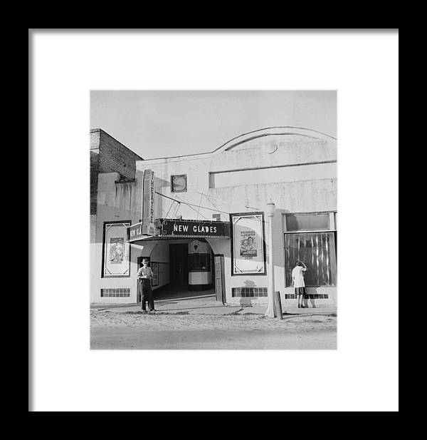 1930s Candid Framed Print featuring the photograph Movie Theatre, The New Glades Theater by Everett