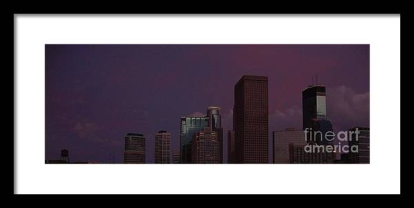 Minneapolis Framed Print featuring the photograph Mpls by Alex Blaha