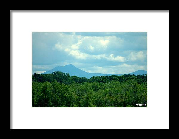 Mt. Mansfield Framed Print featuring the photograph Mt Mansfield From Malletts Bay by Mark Holden