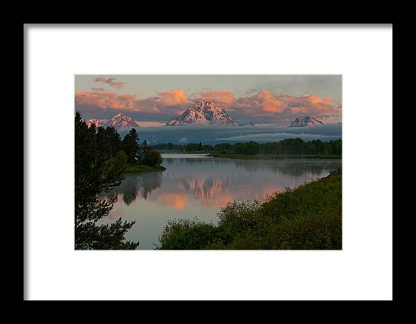 Nature Framed Print featuring the photograph Mt. Moran by Larry Fry
