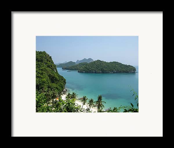 Angthong Framed Print featuring the photograph Mu Ko Ang Thong Marine National Park by Nawarat Namphon