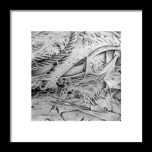 Fishing Framed Print featuring the mixed media Murosfishnetcomp 1983 by Glenn Bautista