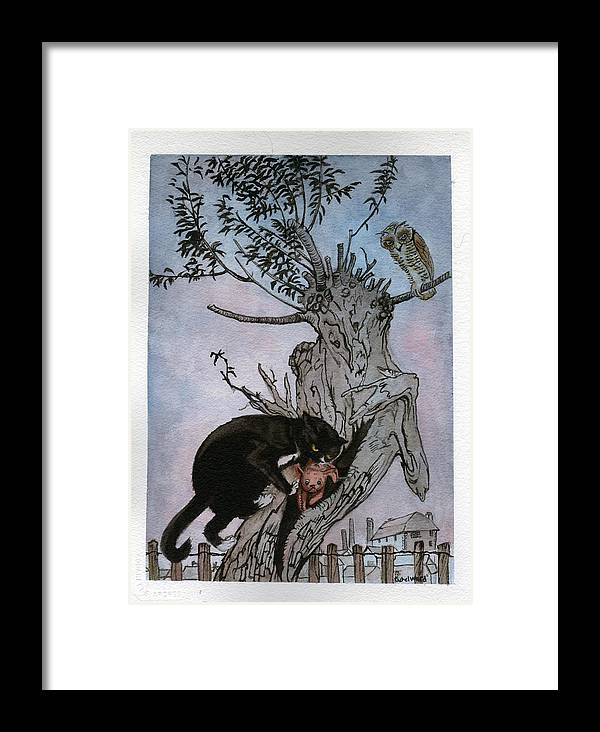 Cat Framed Print featuring the painting Murrums Revenge by Rachel Ward