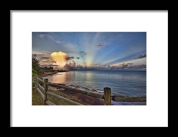 Mushroom Cloud Framed Print featuring the photograph Mushroom Cloud by Douglas Barnard
