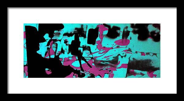 Serigraph Framed Print featuring the photograph Music - Underground art by Arte Venezia