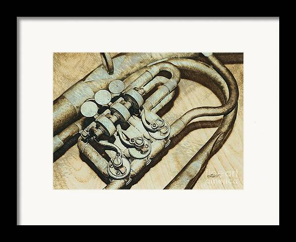 Photo Framed Print featuring the photograph Music Of The Past by Jutta Maria Pusl
