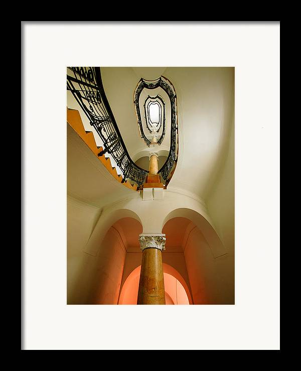 Staircase Framed Print featuring the photograph Music Score by John Galbo