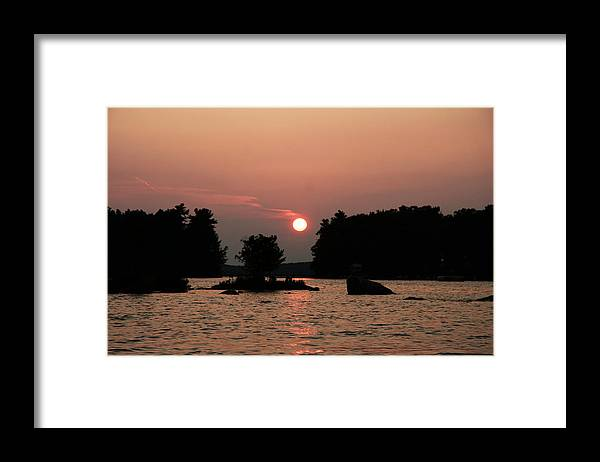 Water Framed Print featuring the photograph Muskoka Sunset by Dr Carolyn Reinhart