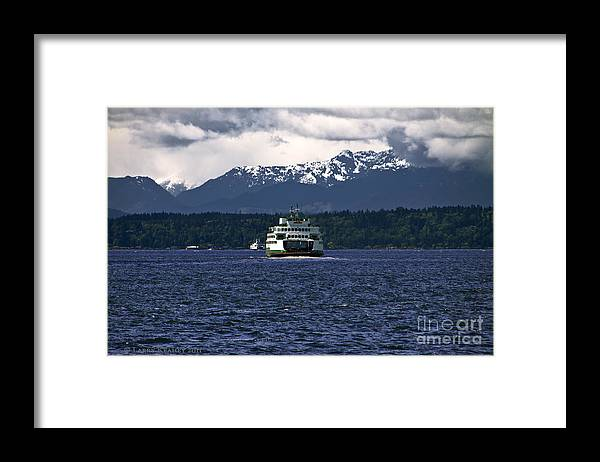 Seattle Framed Print featuring the photograph MV Kaleetan Ferry by Larry Keahey