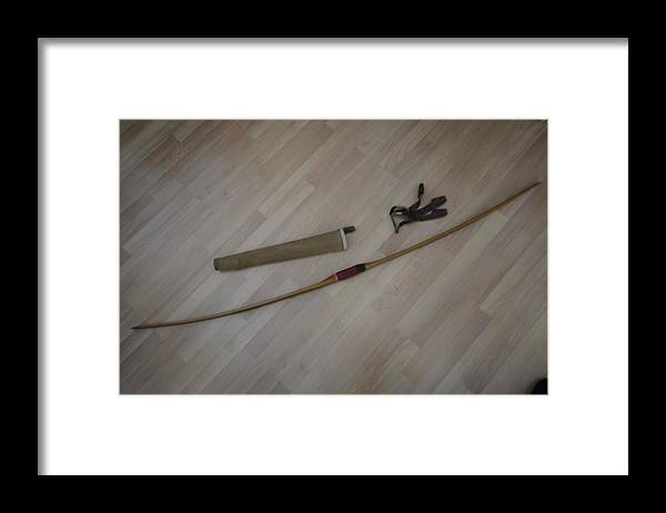 Bow Framed Print featuring the photograph My boyhood bow by Lawrence Christopher