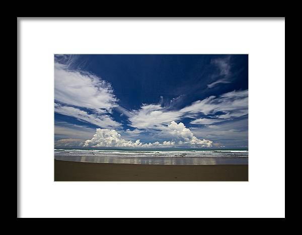 The Sea Framed Print featuring the photograph My Colour by Simone Pastore
