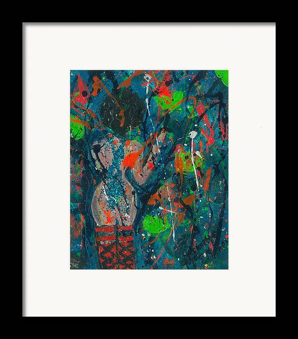 Women Framed Print featuring the painting My Teal Tart by Annette McElhiney