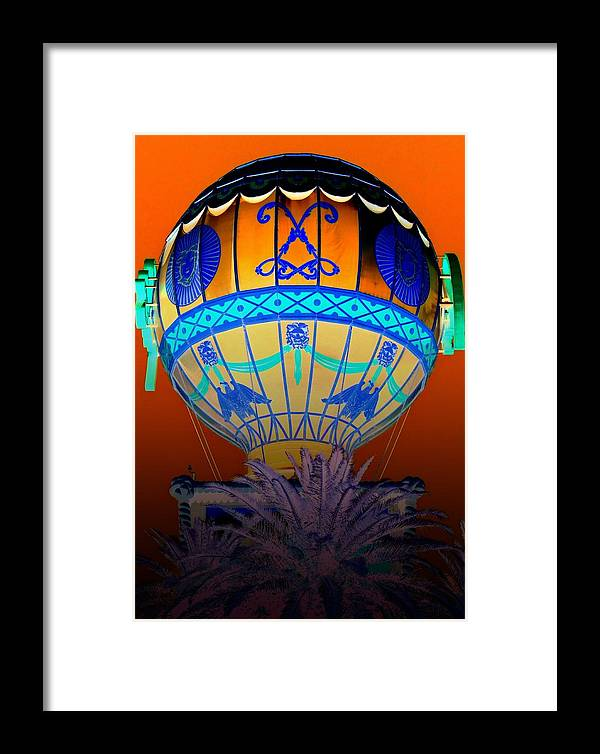 Las Vegas Framed Print featuring the digital art My Vegas Paris 2 by Randall Weidner