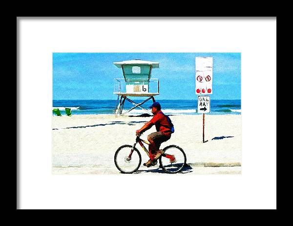 People Framed Print featuring the painting My Way by Brian D Meredith