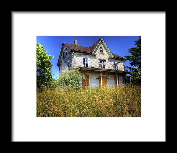 Abandoned Framed Print featuring the photograph Mystic Abandonment by Vicki Jauron