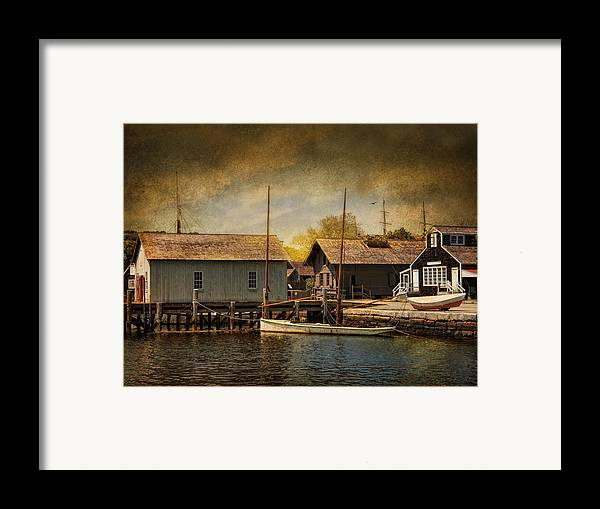 Boats Framed Print featuring the photograph Mystic Sun by Robin-Lee Vieira
