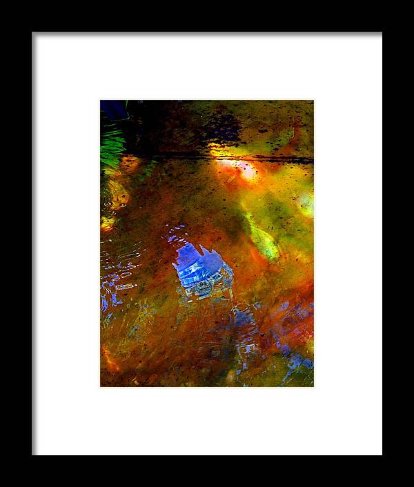 Abstract Framed Print featuring the photograph Mystical Waters by Marcia Lee Jones