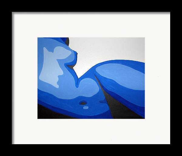Woman Framed Print featuring the painting Naked Woman by Michael Ringwalt