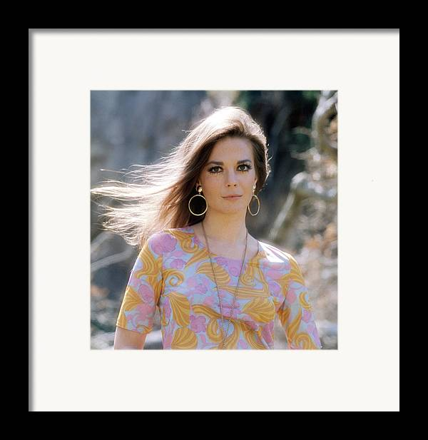 1970s Fashion Framed Print featuring the photograph Natalie Wood, Wearing A Pucci Design C by Everett