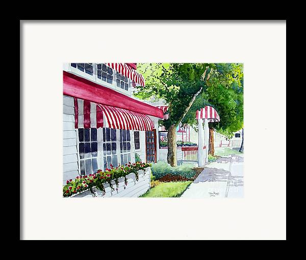 Watercolor Framed Print featuring the painting Nate's by Tom Riggs