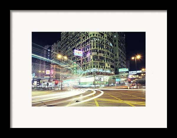 Horizontal Framed Print featuring the photograph Nathan Road by Thank you for choosing my work.