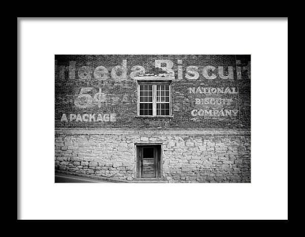 Window Framed Print featuring the photograph National Biscuit Company by Paul Bartoszek