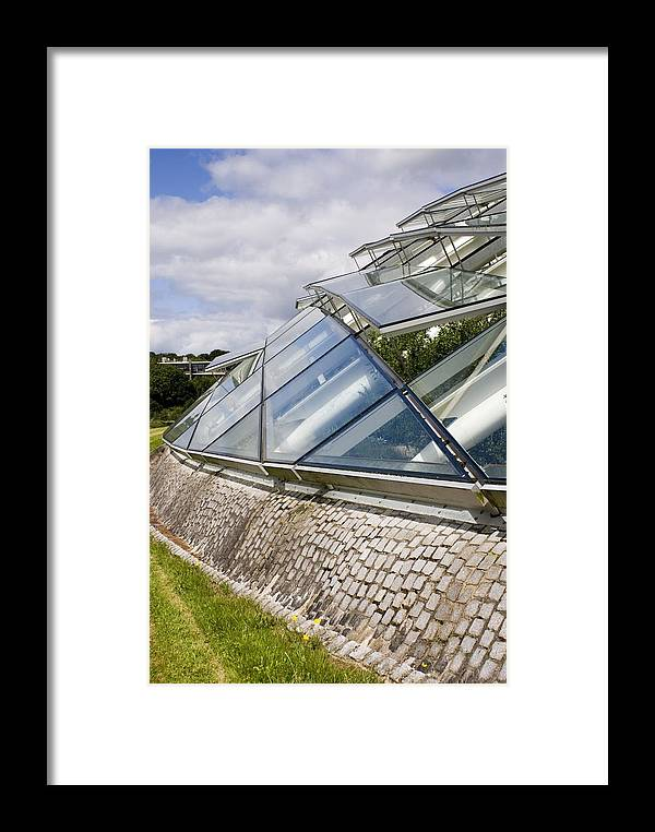 Auto-opener Framed Print featuring the photograph National Botanic Garden Wales Glasshouse by Mark Williamson