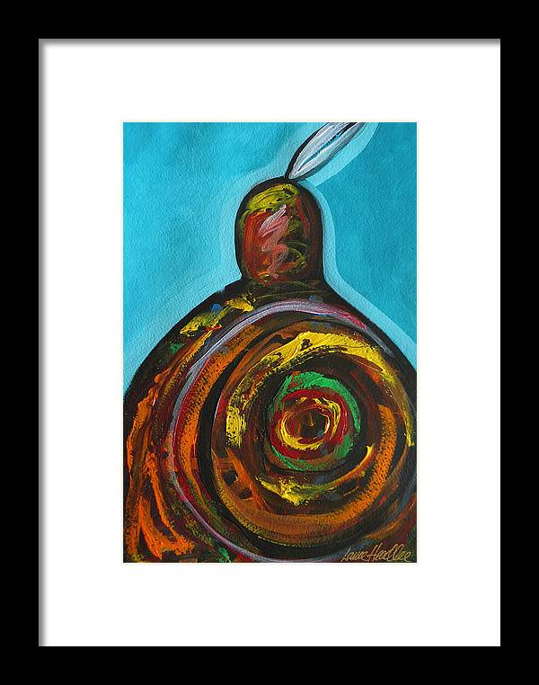 Native Framed Print featuring the painting Native Abstract by Lance Headlee