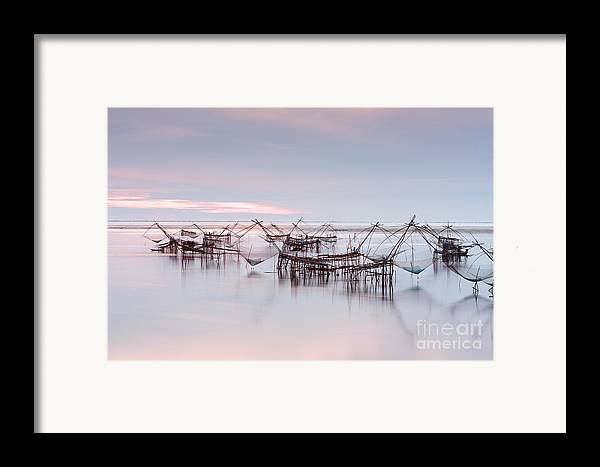 Agriculture Framed Print featuring the photograph Native Asian Fishery by Buchachon Petthanya