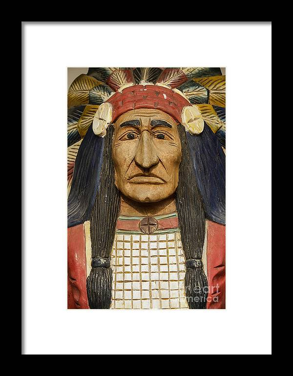 American Indian Framed Print featuring the photograph Native Chief by John Greim