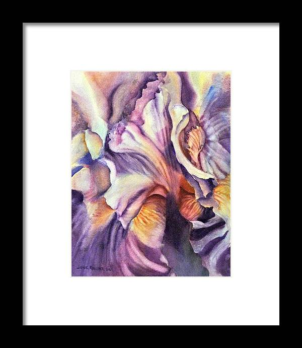Watercolor Framed Print featuring the painting Natural Rhythms by June Rollins