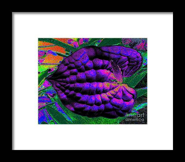 Abstract Art Framed Print featuring the photograph Nature's Abstract Digital Art by Merton Allen