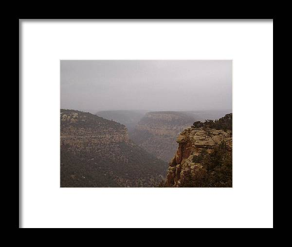 Navajo Canyon Framed Print featuring the photograph Navajo Canyon by FeVa Fotos