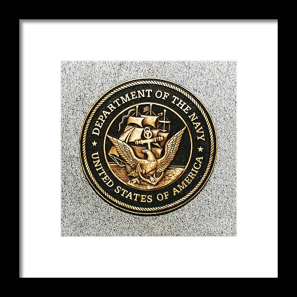 United States Navy Framed Print featuring the photograph Navy Seal by Kathy Flugrath Hicks