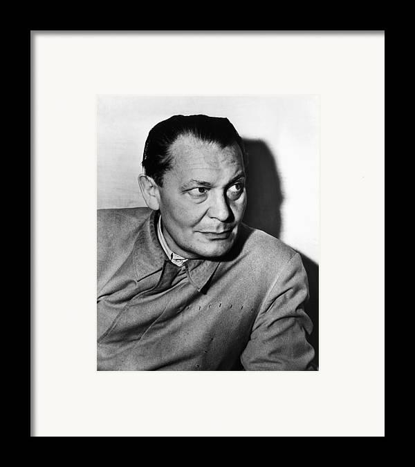 1940s Portraits Framed Print featuring the photograph Nazi War Criminal Hermann Goering, Ca by Everett