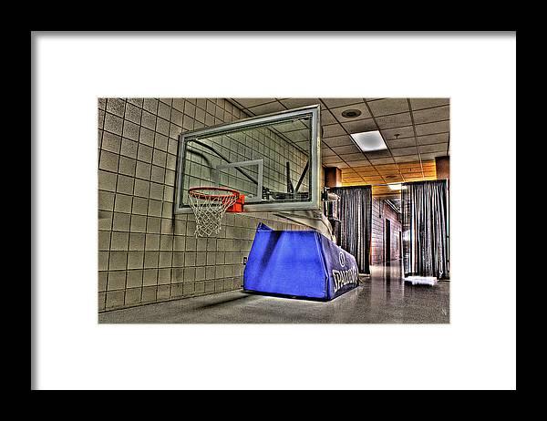 Framed Print featuring the photograph NBA Hoop Auburn Hills MI by Nicholas Grunas