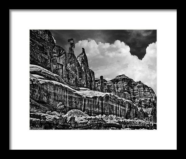 Nefertiti Framed Print featuring the digital art Nefertiti Arches National Park by Bob and Nadine Johnston
