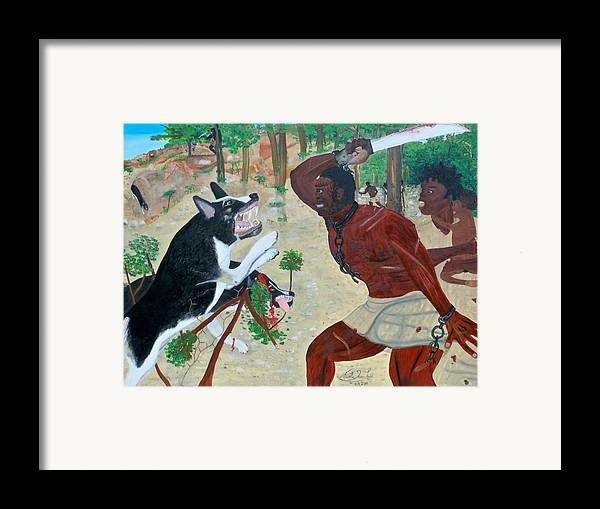 Nicole Jean-louis-neg Mawon Haiti 1791 Framed Print featuring the painting Neg Mawon Haiti 1791 by Nicole Jean-Louis