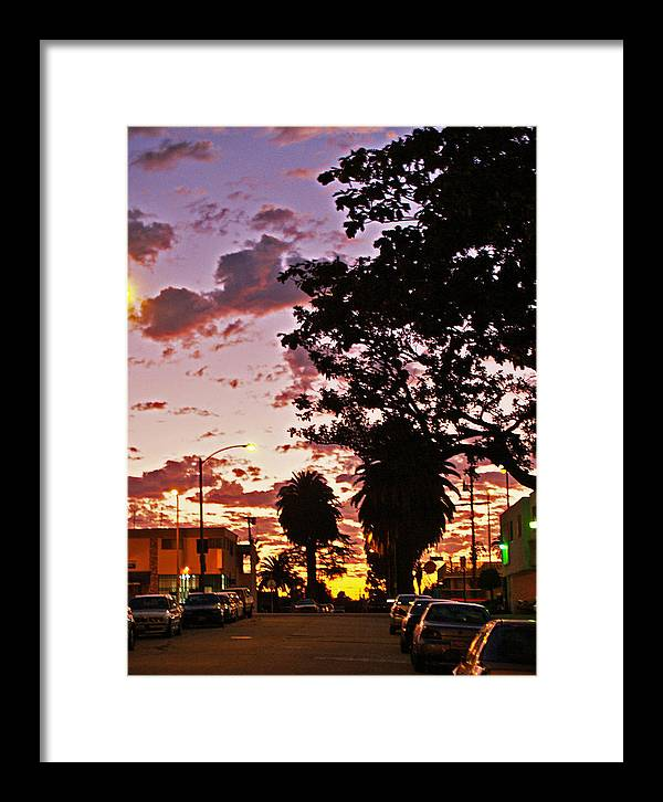Libra.love.freedom Framed Print featuring the photograph Neighborhood Silhouette by D Wash