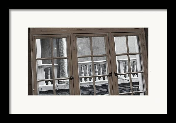 Columns Framed Print featuring the photograph Neighbors Baluster by Anna Villarreal Garbis